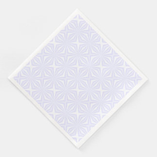 White Squiggly Squares Paper Dinner Napkin