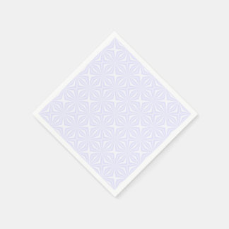 White Squiggly Squares Paper Napkin