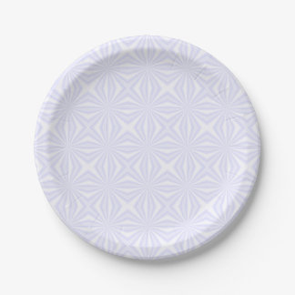White Squiggly Squares Paper Plate