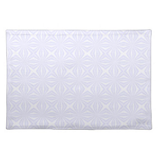 White Squiggly Squares Placemat