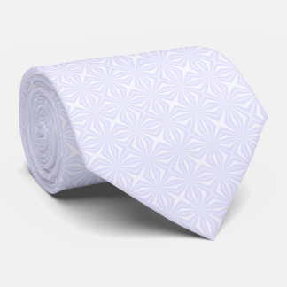 White Squiggly Squares Tie