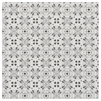 white squire lace like patten fabric