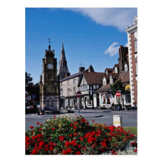 White St. Peter's Square, Ruthin, Clwyd flowers Postcard