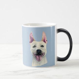 White Staffordshire Bull Terrier Dog Watercolor Magic Mug