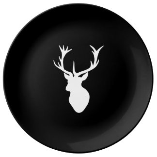 White Stag Head Plate