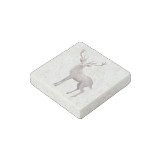 White Stag Stone Magnets