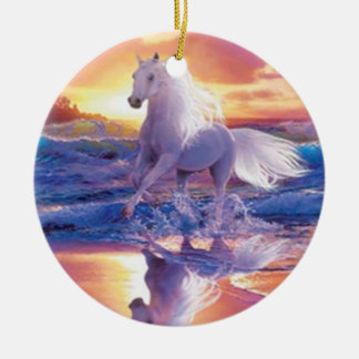 White Stallion Ornament