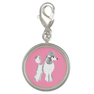 White Standard Poodle Pink Charm