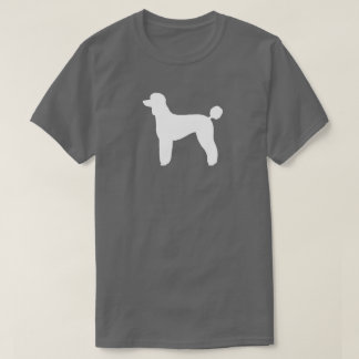 White Standard Poodle Silhouette T-Shirt