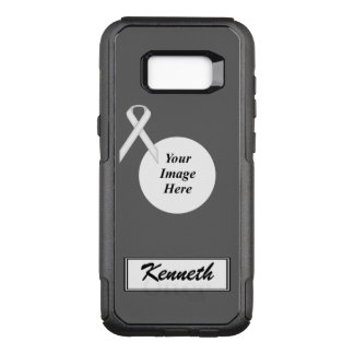 White Standard Ribbon Template by Kenneth Yoncich OtterBox Commuter Samsung Galaxy S8+ Case