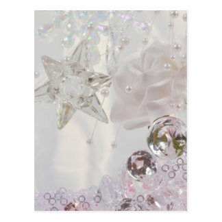 """White Star and Crystals"" Postcard"