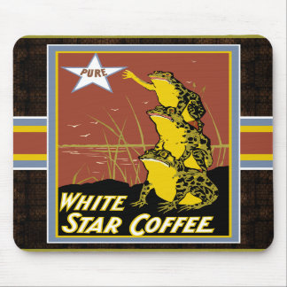 White Star Coffee Frog Mousepad