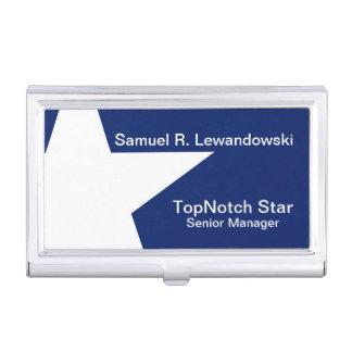White Star Elegant customizable Business Card Holder