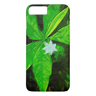 White Star Flower Wildflower Abstract iPhone 7 Plus Case