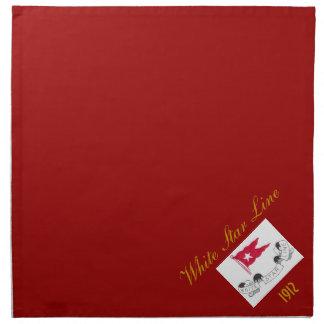 White Star Line - Dinner Napkins (Red)