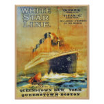 White Star Line Titanic & Olympic ad Print