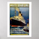 White Star Line to Philadelphia Poster