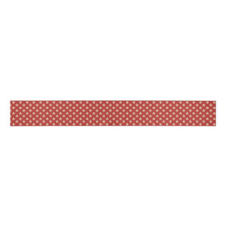White Star Pattern Background Color Your Choice Grosgrain Ribbon