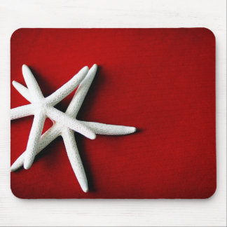 White Starfish Mousepad