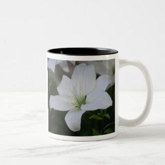 White Stargazer Lily Mug