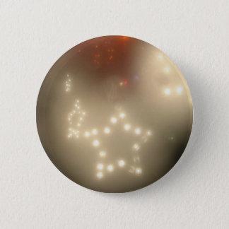 White Stars 2 Inch Round Button