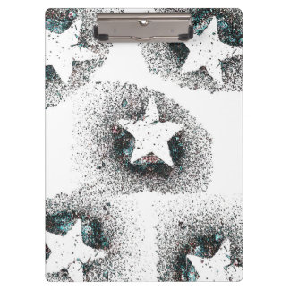 White Stars Clipboard