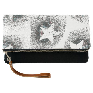 White Stars Clutch Bag