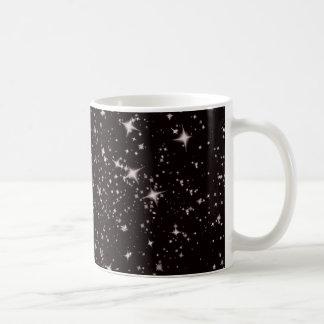 White stars in black sky mugs