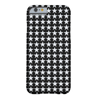 white stars on black barely there iPhone 6 case