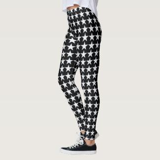 white stars on black leggings