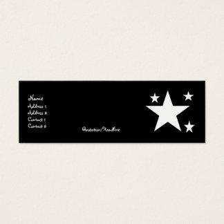 White Stars on Black Profile Cards