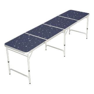 White Stars on Navy Blue Beer Pong Table