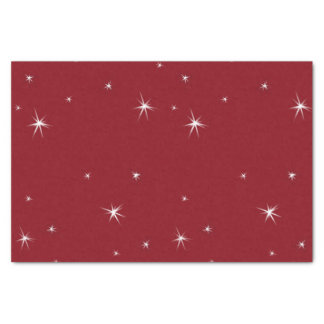 White stars on Red, Ruby Lane, Gorgeous Gifts Tissue Paper