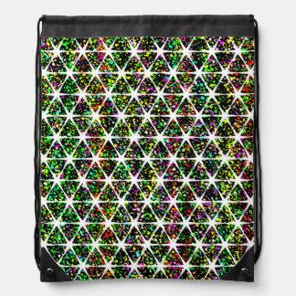 White Stars Pattern Drawstring Bag