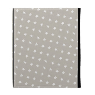 White Stars Pattern iPad Folio Cover