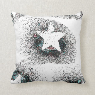 White Stars Throw Pillow