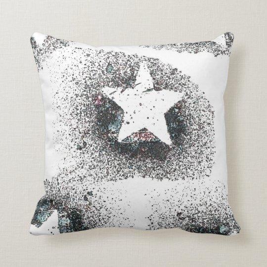 White Stars Throw Pillow