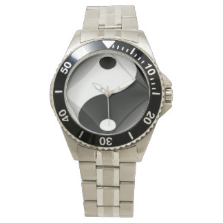 White steel Yin Yang watch of N.A.