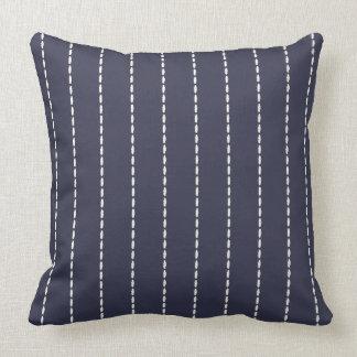 White Stitching Nautical Pillow