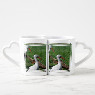 White Stork Coffee Mug Set