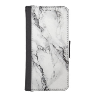 White Striped Marble Stone iPhone SE/5/5s Wallet Case