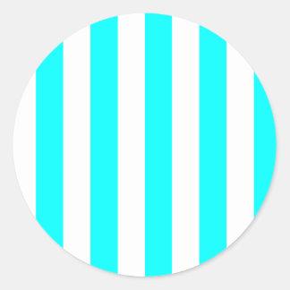 White Striped Sticker