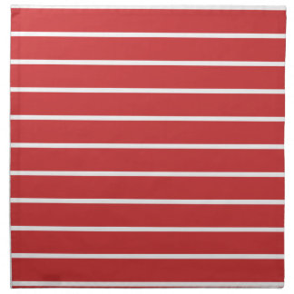 White Stripes ON Red Napkin