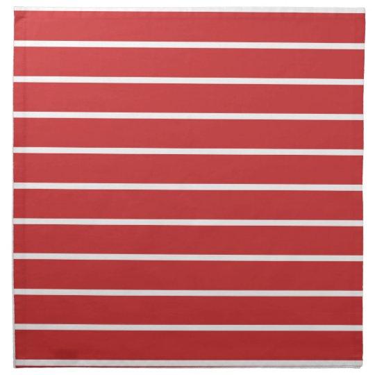 White Stripes ON Red Printed Napkin
