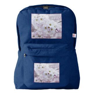 White Stylish Cherry Blossom Backpack