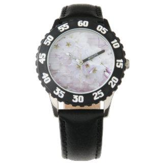 White Stylish Cherry Blossom Wristwatches