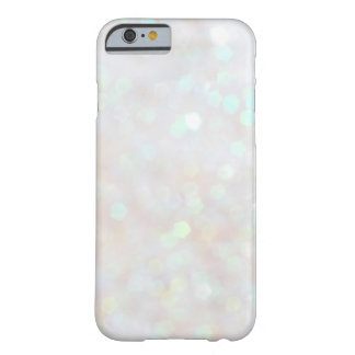 White Subtle Bokeh Sparkle Glitter iPhone 6 case