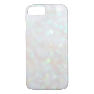White Subtle Bokeh Sparkle Glitter iPhone 7 case