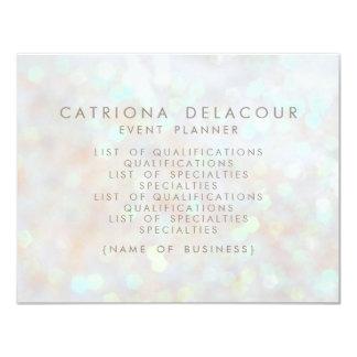 White Subtle Glitter Bokeh Business Flyer Card