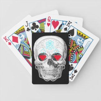 White Sugar Skull Playing Cards